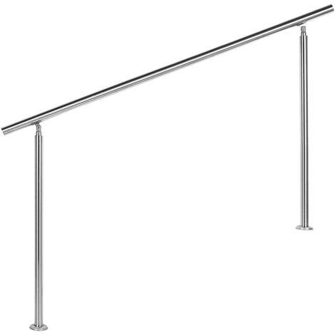 Rampe escalier Acier affiné V2A 160cm Rambarde Main Courante Balustrade