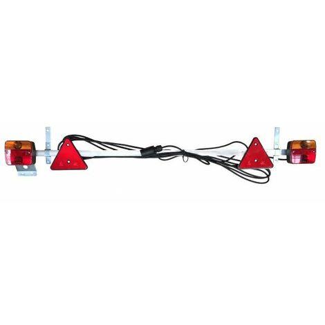 RAMPE FEUX REMORQUE AGRICOLE REGLABLE DE 1,22 M A 2,10 M - choisissezici : CABLE 12,5 M + LED