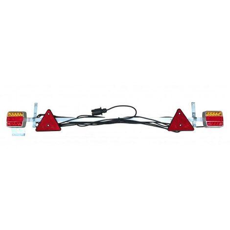RAMPE FEUX REMORQUE AGRICOLE REGLABLE DE 1,22 M A 2,10 M - choisissezici : CABLE 7,5 M + LED