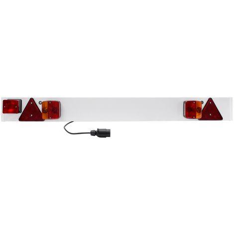 Rampe plaque de signalisation barre arrière remorque câble 6m 12V réflecteurs