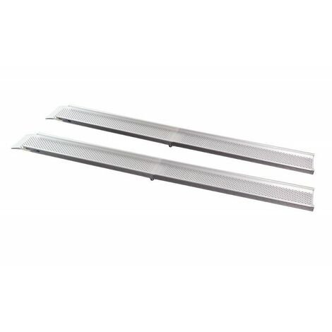 paire de rampes d 39 acc s pliables feal 110 cm gris te. Black Bedroom Furniture Sets. Home Design Ideas