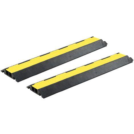 """main image of """"Rampes de protection de câble 2 pcs 2 canaux caoutchouc 101,5cm"""""""