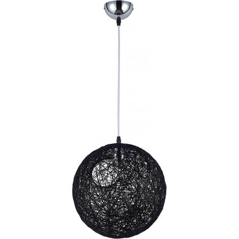 Random ball pendant lamp Pot Bertjan string Black