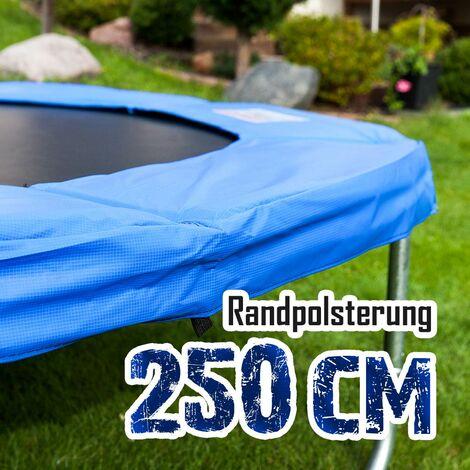Randpolsterung Gepolsterte Federabdeckung Rahmenpolsterung für 250cm Trampoline Breite 30cm Stärke 18mm