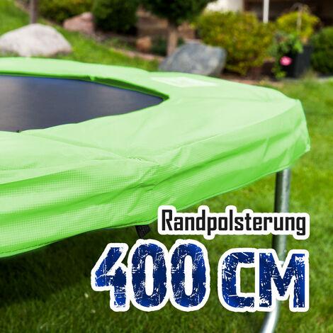 Randpolsterung Gepolsterte Federabdeckung Rahmenpolsterung für 400cm Trampoline Breite 23cm Stärke 18mm in Hellgrün