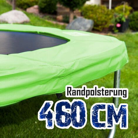 Randpolsterung Gepolsterte Federabdeckung Rahmenpolsterung für 460cm Trampoline Breite 28cm Stärke 18mm in Hellgrün