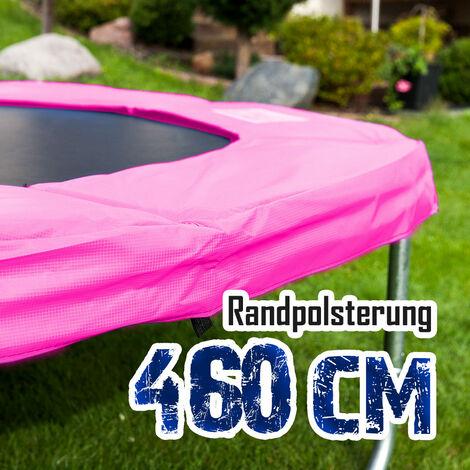 Randpolsterung Gepolsterte Federabdeckung Rahmenpolsterung für 460cm Trampoline Breite 28cm Stärke 18mm in Pink