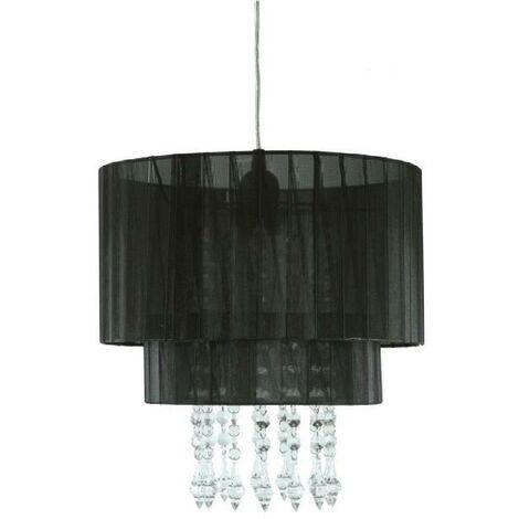 RANEX Lustre - suspension Lustre Amy E27 60W noir et transparent