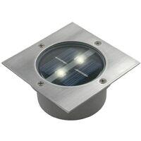 Ranex Solar Bodenstrahler Quadratisch 0,12 W Silber 5000.198