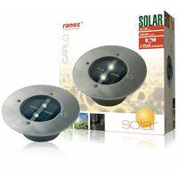 Ranex Solar Bodenstrahler Rund 0,12 W Silber 5000.197