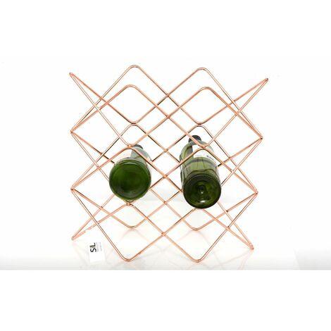 Range bouteille en métal filaire Copper - L. 38 x H. 36 cm - Couleur cuivré - Or
