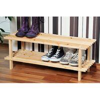 Range chaussures - Bois - 2 niveaux