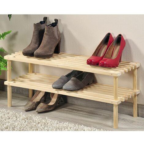 Range chaussures - Pin - 2 niveaux