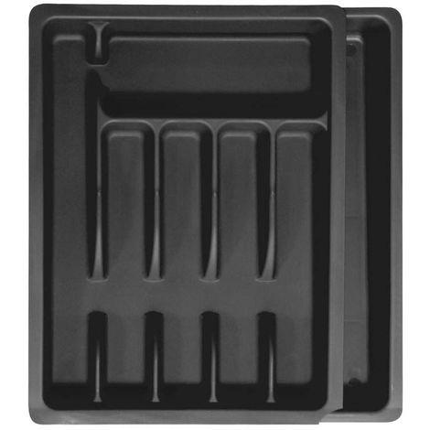 Range couverts ajustable en plastique Noir - Noir