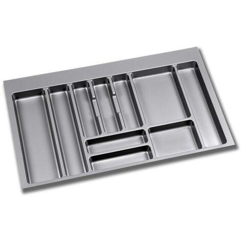 Range-couverts pour tiroirs de cuisine module 1000 mm Plastique Gris EMUCA 8330021