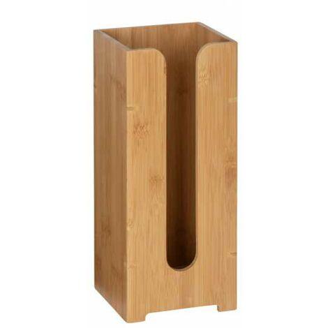 Range papier toilette bois, stockage papier toilette capacité 3 rouleaux, bambusa