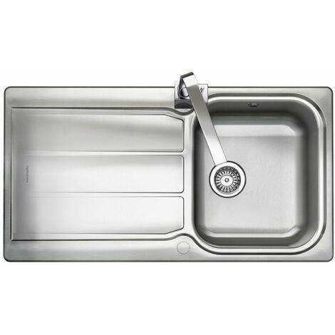 "main image of ""Rangemaster Glendale Kitchen Sink Single Bowl Stainless Steel Inset Waste Kit"""