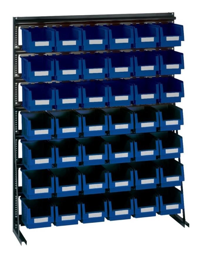 Lakape - Rangement ateliers Vario-Regal V10D avec 42 PLK-Boites, bleu