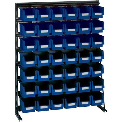 Rangement ateliers Vario-Regal V10D avec 42 PLK-Boites, bleu