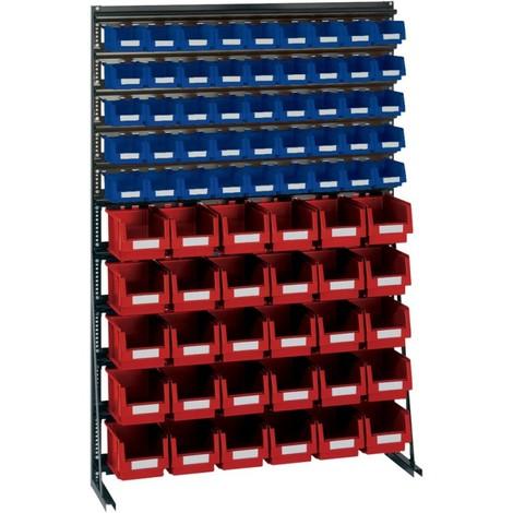 Rangement ateliers Vario-Regal V12B avec 75 PLK-Boites bl/rouge