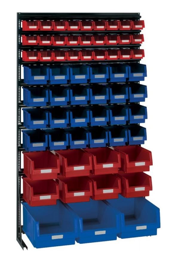 Lakape - Rangement ateliers Vario-Regal V14G avec 62 PLK-Boites