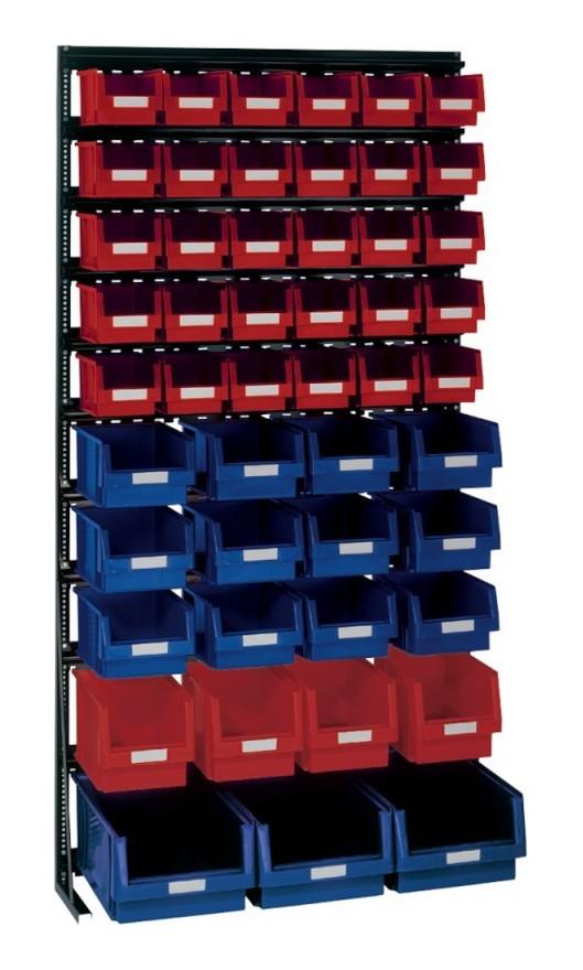 Lakape - Rangement ateliers Vario-Regal V15l avec PLK-Boites, noir
