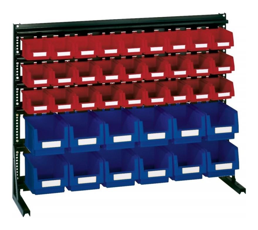 Rangement ateliers Vario-Regal V6B avec 39 PLK-Boites, bl/rouge
