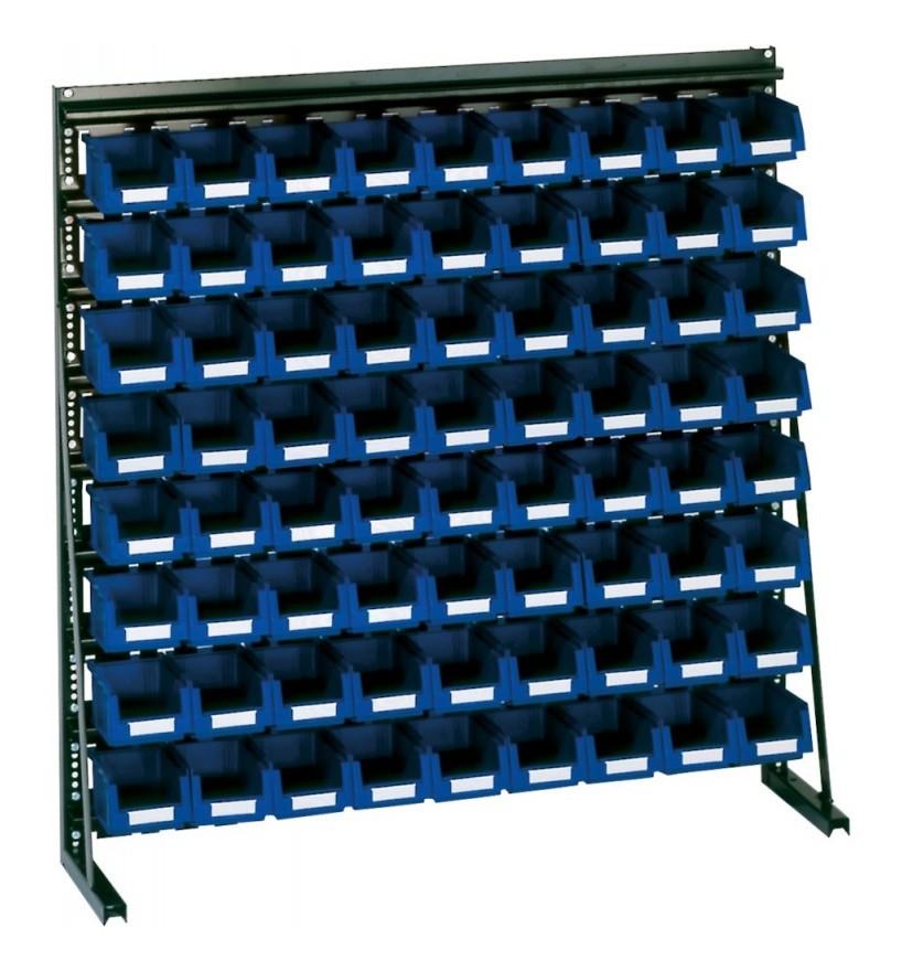 Lakape - Rangement ateliers Vario-Regal V8A avec 72 PLK-Boites bleu