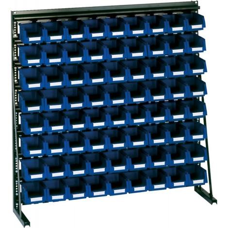 Rangement ateliers Vario-Regal V8A avec 72 PLK-Boites bleu