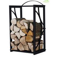 Rangement bois de chauffage en acier noir 50x25x80 cm ou 50x35x80 cm