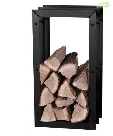 Rangement bois en colonne en acier noir 45x20x85 cm / 45x30x85 cm