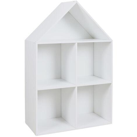 Rangement maison 4 cases Paul pour enfant - Blanc