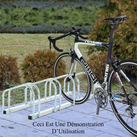 Rangement - ràtelier 3 vélos avec fixation au sol - Rack 1 niveau - Acier