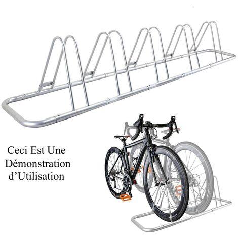 Rangement - ràtelier 5 vélos avec fixation au sol - Rack 1 niveau