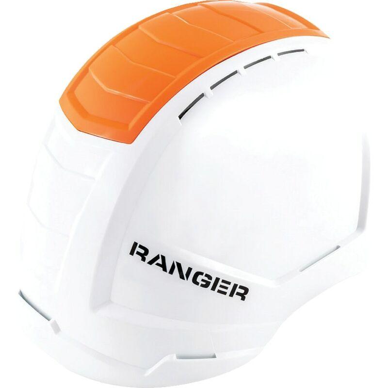 Image of Ranger White Safety Helmet with Hi-vis Orange Crash Box - Alpha Solway
