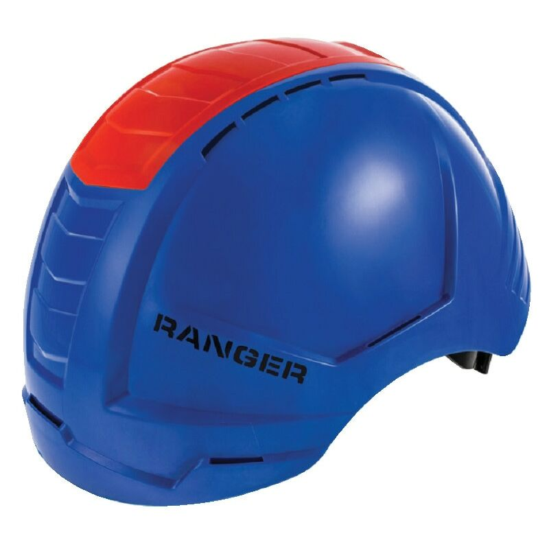 Image of Ranger Blue Safety Helmet with Red Crash Box - Alpha Solway