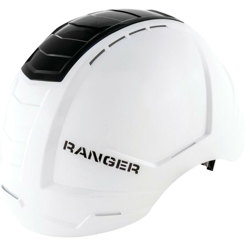 Image of Ranger White Safety Helmet with Black Crash Box - Alpha Solway