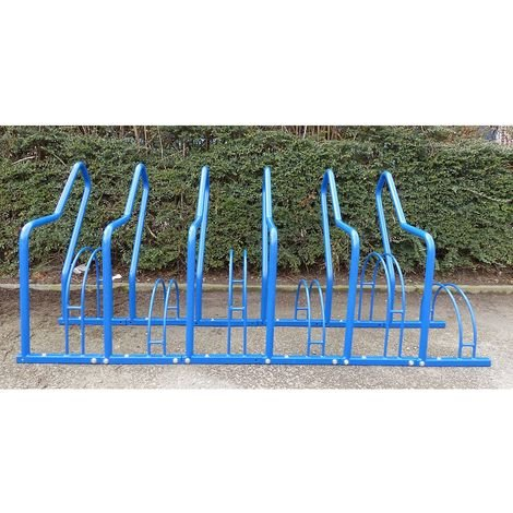 Range–vélos à arceaux, 6 emplacements - peint