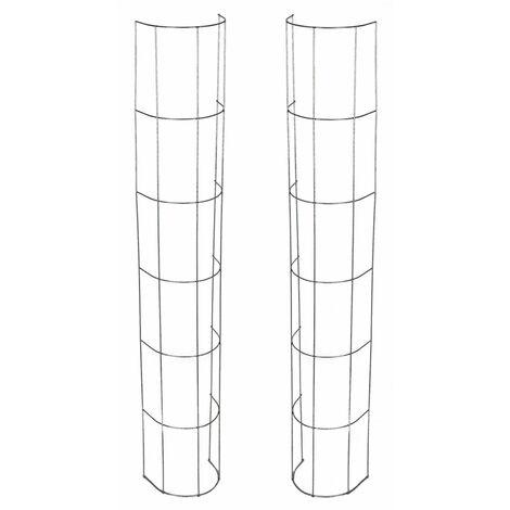Rankgitter für Fallrohre 120cm - 2 Stück - halbrundes Gitter aus Stahl