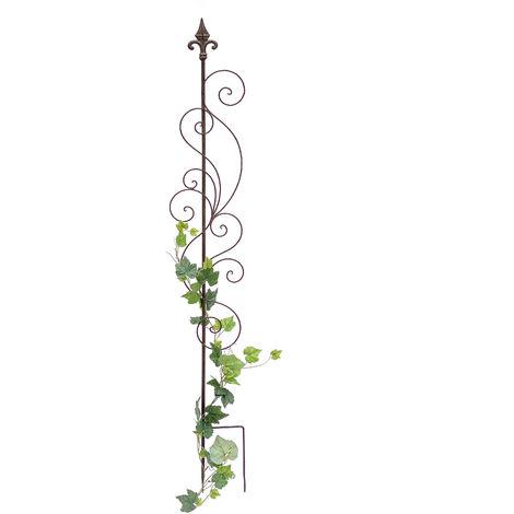 Rankgitter Metall 140cm Blumengitter Rankhilfe 81296 Steckzaun Kletterhilfe