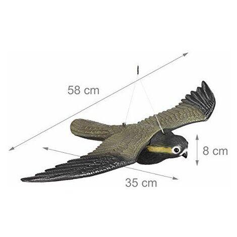 Rapace faucon anti-pigeon décoration épouvantail oiseaux pigeon alarmistes jardin figure
