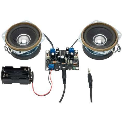 Rapid 2.5W Stereo Amplifier Kit With Speakers