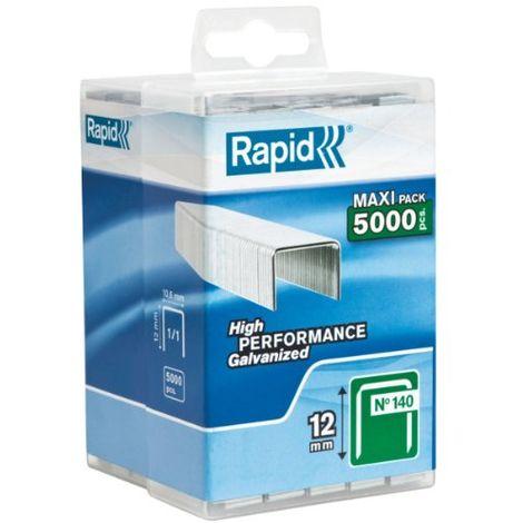 """main image of """"Rapid 40303091 - Punti metallici n°140/12 mm, galvanizzati, confezione da 5000 punti"""""""