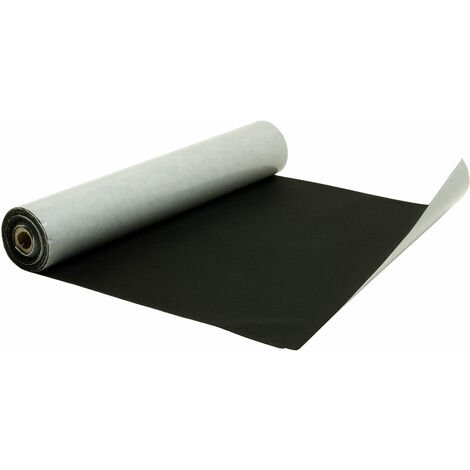 Rapid Black Self-adhesive Felt Roll - 450mm x 5m