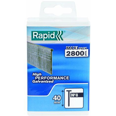 Rapid 40109531 No Acciaio 606 Graffe a Dorso Stretto 25 mm