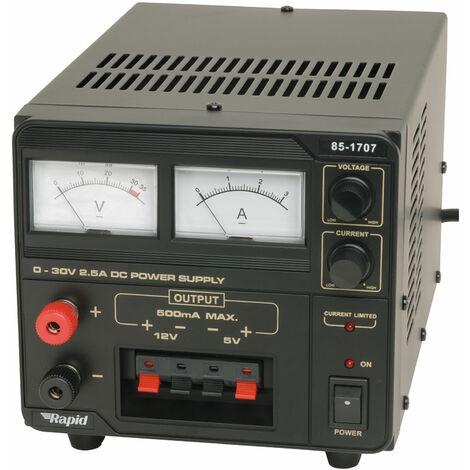 Rapid EP-603-209G Triple Out 0-30V 5V 12V 2.5A Ana Psu
