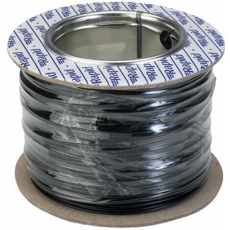 Rapid GW010300 Equipment Wire Single Core 1/0.6 Black (Reel of 100m)