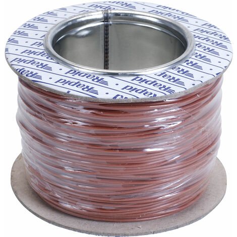 Rapid GW010410 Equipment Wire Brown 7/0.2 (100m Reel)