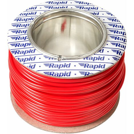 Rapid GW010600 Extra Flexible Wire Red 25m