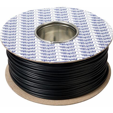 Rapid GW011200 100m Reel Black 32/0.2 Wire